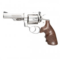 Ruger Security Six: Smooth Hardwood Grip with Finger Grooves - Walnut Burl