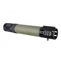AR-15 / M16: (Rifle Length) OverMolded Free Float Forend with Accessory Attachments - OD Green