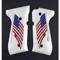 Beretta 92 Scrimshaw Ivory Polymer - American Flag