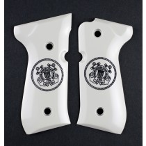 Beretta 92 Scrimshaw Ivory Polymer - Coast Guard