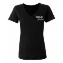 Hogue Grips Women V-Neck T-Shirt XX-Large Black