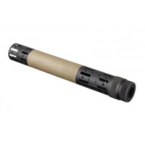 AR-15 / M16: (Extended Length) OverMolded Free Float Forend with Accessory Attachments - FDE