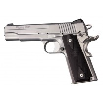 1911 Govt. Model: Checkered Rubber Grip Panels with Diamonds - Black