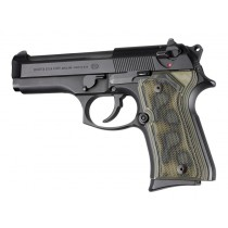 Beretta 92 Compact Checkered G10 - G-Mascus Green