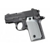 SIG Sauer P238 Checkered Aluminum - Brushed Gloss Clear Anodize
