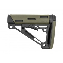 AR-15 / M16: OverMolded Collapsible Buttstock (Fits Mil-Spec Buffer Tube) - OD Green