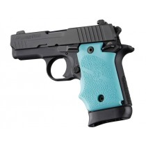SIG Sauer P938 Ambi Safety Rubber Grip with Finger Grooves Aqua