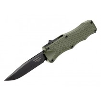 "Out The Front 3.5"" Automatic Clip Point Blade Black  Finish Aluminum Frame – OD Green Black Hardware - 20 pieces"
