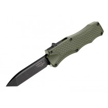 "Out The Front 3.5"" Automatic Tanto Blade Black  Finish Aluminum Frame – OD Green Black Hardware - 20 pieces"