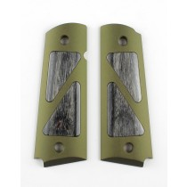 Govt. Model Hybrid Aluminum - Matte Green Anodized - Black DiamondWood Insert