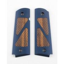 Govt. Model Hybrid Aluminum - Matte Blue Anodized - Goncalo Insert Scallops Pattern