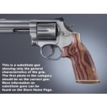 Dan Wesson Small Frame Kingwood No Finger Groove, Stripe/Cap, Checkered