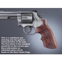 Dan Wesson Small Frame Kingwood Top Finger Groove, Checkered