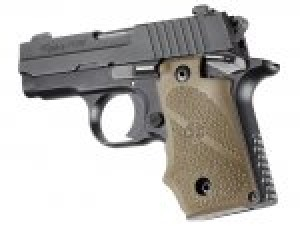 SIG Sauer P238 Rubber Grip with Finger Grooves Flat Dark Earth