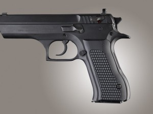 Baby Eagle .40 / 9mm Jericho & Uzi Eagle Piranha Grip G10 - Solid Black