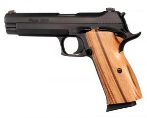 SIG P210 American: Smooth Hardwood Grip - Goncalo Alves