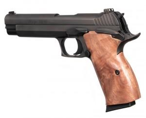 SIG P210 American: Smooth Hardwood Grip - Walnut
