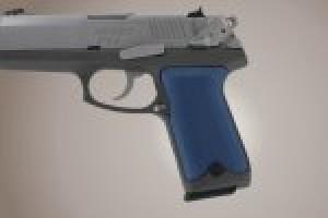 Ruger P94 Checkered Aluminum - Matte Blue Anodize