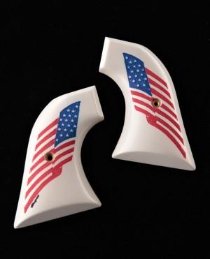 Colt Single Action Scrimshaw Ivory Polymer - American Flag