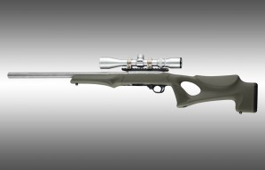 Ruger 10-22 Tactical Thumbhole Stock .920 Barrel Channel OD Green OverMolded Rubber