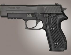 SIG Sauer P227 DA/SA Piranha Grip G10 - Solid Black