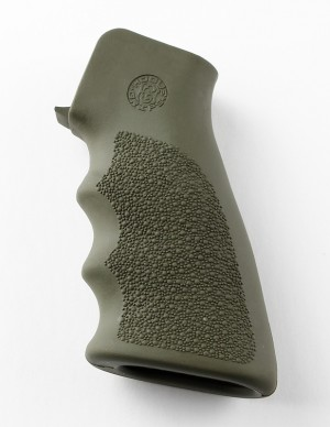 AR-15/M-16 Rubber Grip with Finger Grooves OD Green