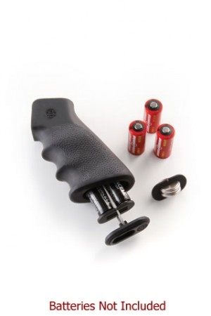 AR-15/M-16 OverMolded Rubber Grip with Cargo Management System Storage Kit Black