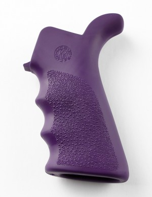 AR-15/M-16 Rubber Grip Beavertail with Finger Grooves Purple