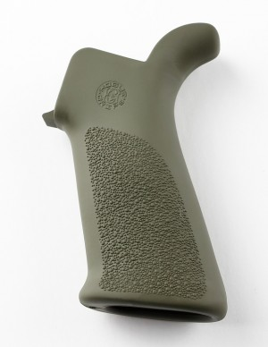 AR-15/M-16 Rubber Grip Beavertail with No Finger Grooves OD Green