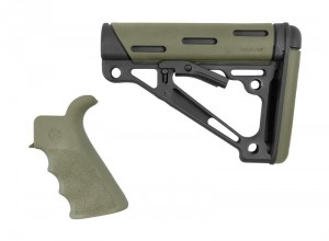 AR-15/M-16 2-Piece Kit OD Green- Grip and Collapsible Buttstock - Fits Commercial Buffer Tube