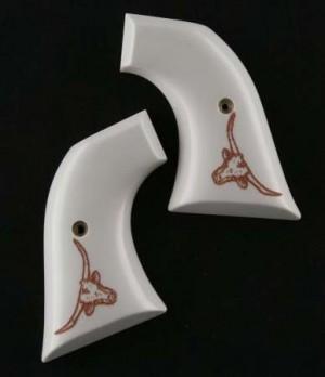 Colt Single Action Scrimshaw Ivory Polymer - Steer Head