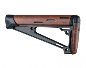AR-15 / M16: OverMolded Fixed Buttstock (Fits A2 Buffer Tube) - Red Lava