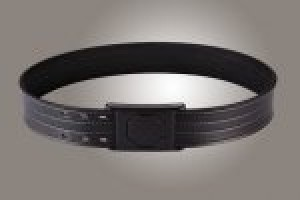"2"" Black 34"" Waist Duty Belt Nytek Lining 4 Row Stitching with 1 Piece Safety Buckle Polymer"