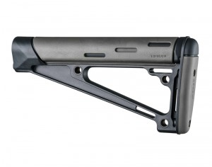 AR-15 / M16: OverMolded Fixed Buttstock (Fits A2 Buffer Tube) - Slate Grey