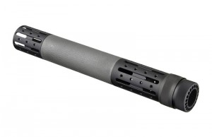 AR-15 / M16: (Extended Length) OverMolded Free Float Forend with Accessory Attachments - Slate Grey