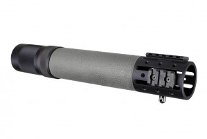 AR-15 / M16: (Rifle Length) OverMolded Free Float Forend with Accessory Attachments - Slate Grey