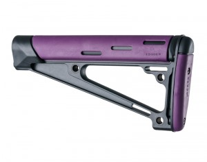 AR-15 / M16: OverMolded Fixed Buttstock (Fits A2 Buffer Tube) - Purple