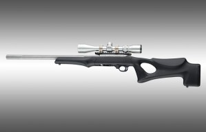 Ruger 10-22 Tactical Thumbhole Stock .920 Barrel Channel Black OverMolded Rubber