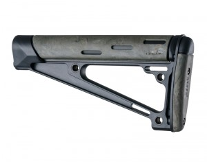 AR-15 / M16: OverMolded Fixed Buttstock (Fits A2 Buffer Tube) - Ghille Green