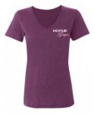 Hogue Grips Women V-Neck T-Shirt XX-Large Purple