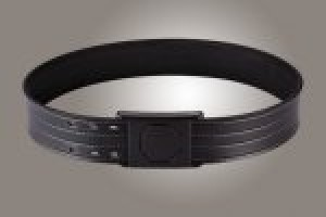 "2-1/4"" Black 46"" Waist Duty Belt Nytek Lining 4 Row Stitching with 1 Piece Safety Buckle Polymer"