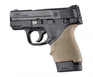 S&W M&P Shield 9mm & 40 / Ruger LC9, EC9: HandALL Beavertail Grip Sleeve - FDE