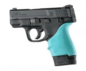S&W M&P Shield 9mm & 40 / Ruger LC9, EC9: HandALL Beavertail Grip Sleeve - Aqua