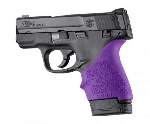 S&W M&P Shield 9mm & 40 / Ruger LC9, EC9: HandALL Beavertail Grip Sleeve - Purple