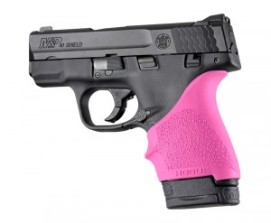 S&W M&P Shield 9mm & 40 / Ruger LC9, EC9: HandALL Beavertail Grip Sleeve - Pink