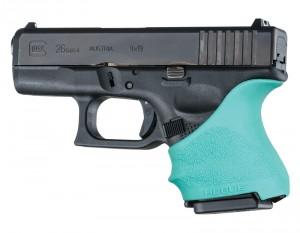 GLOCK 26, 27: HandALL Beavertail Grip Sleeve - Aqua