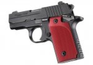 SIG Sauer P238 Checkered Aluminum - Matte Red Anodize