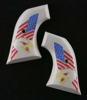 Colt Single Action Scrimshaw Ivory Polymer - Eagle with Flag
