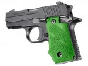 SIG Sauer P238 Rubber Grip with Finger Grooves Zombie Green