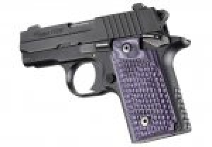 SIG Sauer P238 Piranha Grip G-Mascus Purple Lava G10